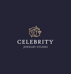 Modern professional logo emblem celebrity vector