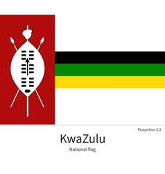 National flag of kwazulu with correct proportions vector