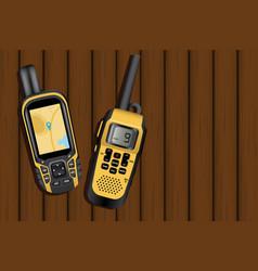 navigator and walkie-talkie vector image