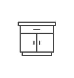 Nightstand line icon vector