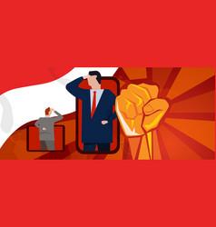 online ceremony independence day celebration vector image