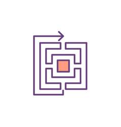 original solutions development rgb color icon vector image