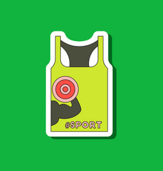 Paper sticker on stylish background sports shirt vector
