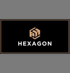 Ph hexagon logo design inspiration vector