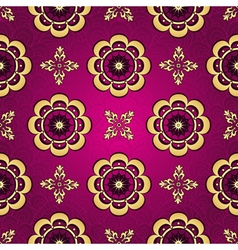 Purple seamless vintage pattern vector image
