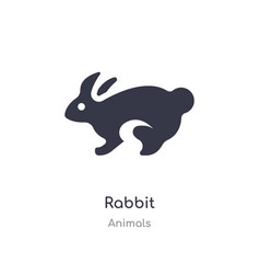 Rabbit icon isolated rabbit icon from animals vector