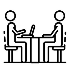 Recruitment meeting icon outline style vector