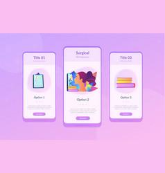 Rhinoplasty app interface template vector