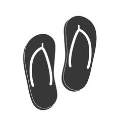 Sandals icon Summer design graphic vector