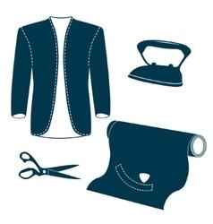 Set of vintage tailor design elements vector