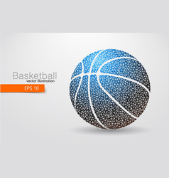 silhouette a basketball ball from triangles vector image