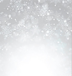 silver christmas snowflake background 1111 vector image