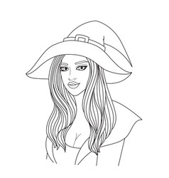 Simple sexy witch vector