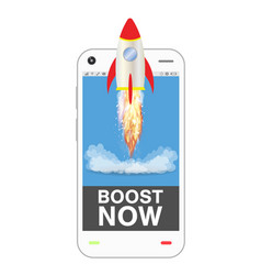 Smartphone with boost up application vector