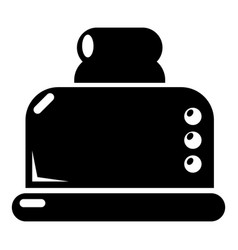steal toaster icon simple style vector image