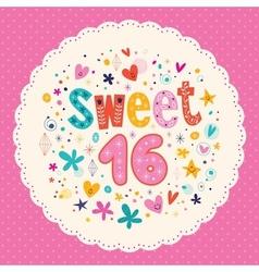 Sweet sixteen card 2 vector