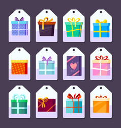 tags gifts commodity advertising labels template vector image