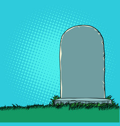 tombstone monument in cemetery vector image