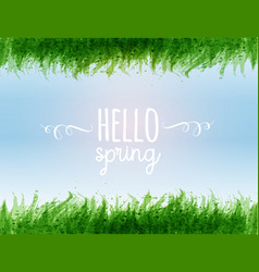 typography composition with hello spring words vector image
