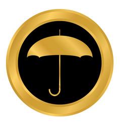 umbrella button on white vector image