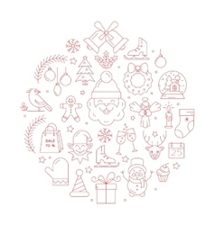 Unique concept with different christmas and vector