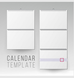 wall calendar mock up template square vector image