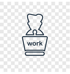 Working concept linear icon isolated on vector