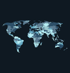 world map camouflage vector image