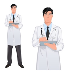 Yong man doctor vector