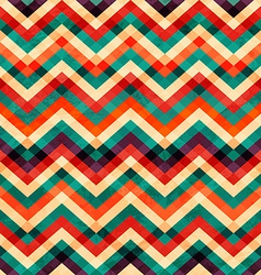zigzag seamless pattern with grunge effect vector image vector image