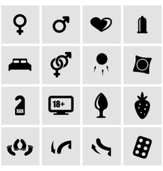black sex icon set vector image vector image
