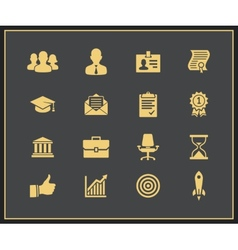 Business career icons set vector