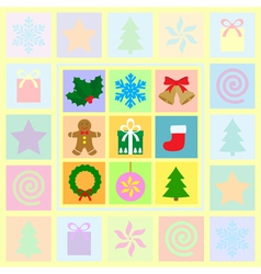 christmas card 2 1 vector image vector image