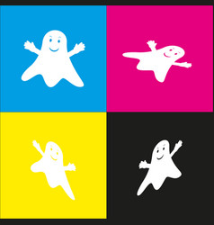 ghost isolated sign white icon with vector image vector image