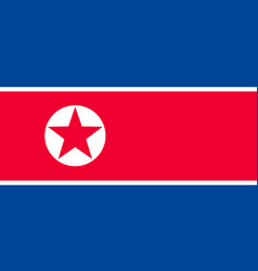 national flag of korea republic vector image vector image