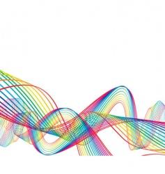 rainbow wave line background vector image