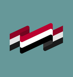 yemen flag ribbon isolated yemeni tape banner vector image vector image