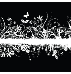 chaotic floral grunge vector image vector image