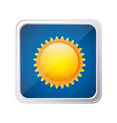 color square frame and blue background with sun vector image
