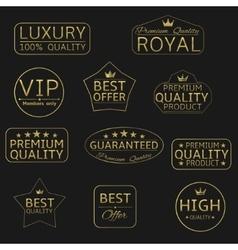 Golden labels vector image