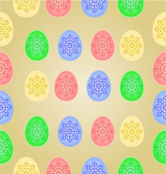 Seamless texture Easter eggs vintage pattern vector image vector image