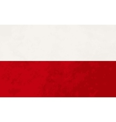 True proportions Poland flag with texture vector image vector image