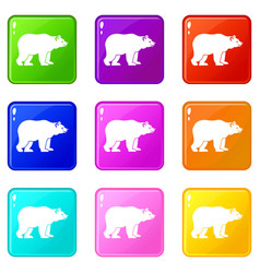 bear set 9 vector image