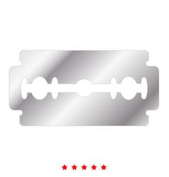 blade razor icon flat style vector image
