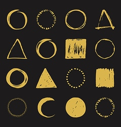 Handdrawn logo designs vector image