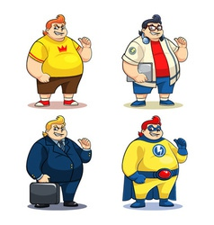 Mr Bigger Characters vector image vector image