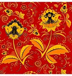 Seamless hohloma floral pattern vector