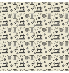 Sewing and needlework background vector image vector image