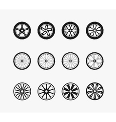 Bike car and wooden wheels vector image vector image