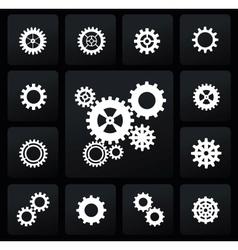 gearwheel mechanism icon vector image